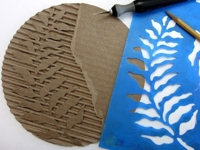 Gelli Arts Corrugated Cardboard Stamp
