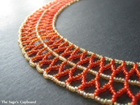 Inspirational Beading Beaded Double Chevron Necklace