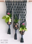 My French Twist Macramé Planter for 3 Plants