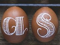 Simple as That Hand Lettering on Easter Eggs