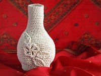 freshly found Crocheted Vase